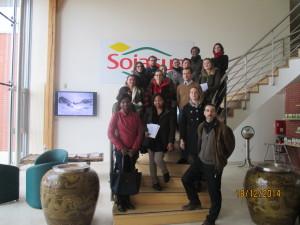 La promotion MS IMR-SET 2014-2015 chez SOJASUN